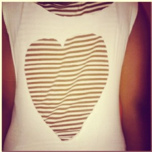 A heart shaped cut-out of my NYSC t-shirt